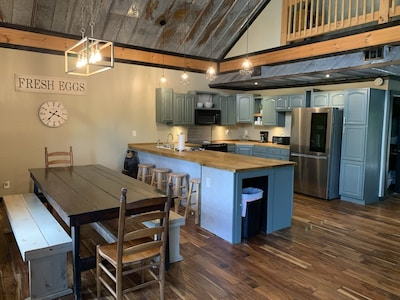 Dining and Kitchen with seating for up to 14