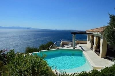 Villa Paradiso, its fantastic pool and sea views