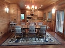 Handmade tree dining table also includes two 4 foot benches for end seating (10)