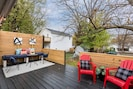Beautiful and private outdoor deck off rear entrance!