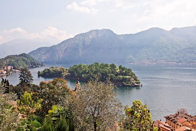 The iconic view of the island from the residence.