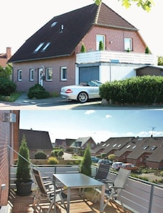 Ferienwohnung 'Am Meisenweg' mit 18 qm Dachterrass