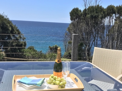 Entertain friends and family in style, whale watching with this fantastic view