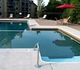 New 2018 heated outdoor pool with barbecue grills and picnic tables.