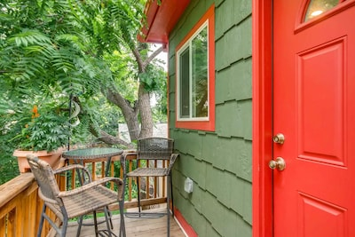Enjoy the quiet garden oasis in the middle of Denver.