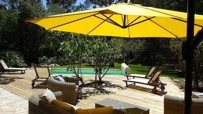 Pool und Terrasse Casa Litarriccia Süd korsika