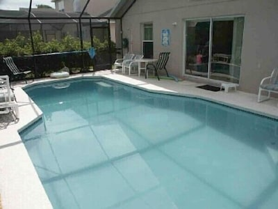 Private heated pool with lanai