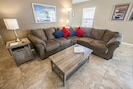 Relax on the comfy sectional