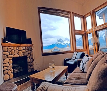 Updated, high res image.  Enjoy a fire while staring at the mountains.