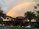 Amazing Rainbow caught over the house