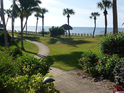 This is the view from our lanai - the Gulf is at your doorstep!