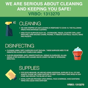 We have stepped up our cleaning in response to COVID-19 to keep you safe!