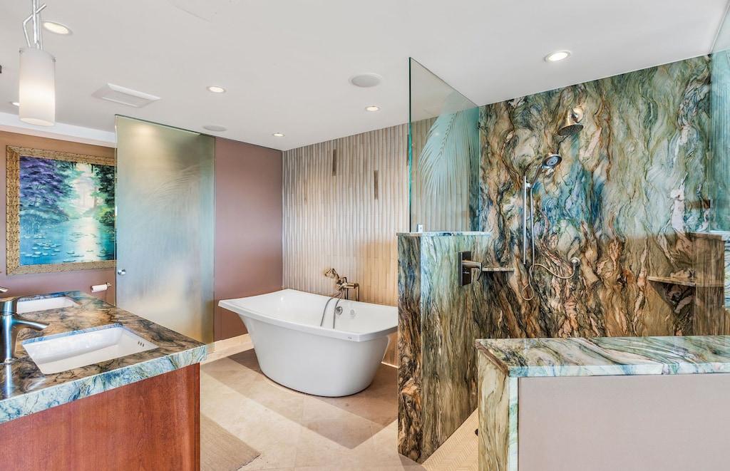Luxurious bathroom of a Maui rental unit