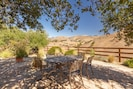Dining view patio with ample seating and gas BBQ