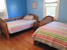 Blue Bedroom - one twin, one double bed