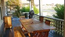 Front porch for al Fresco dining. w gas grill BBQ