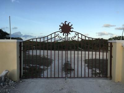 Gate at base of driveway