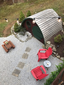 The Hobbit Hole House will provide hours of play + a great place to catch a nap.