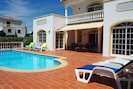 Pool area with 8 sun beds