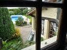 Vu de la chambre sur le jardin