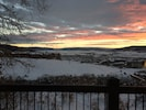 A sunset view looking south down the Yampa Valley from our deck.