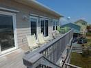 Beach side, top deck.