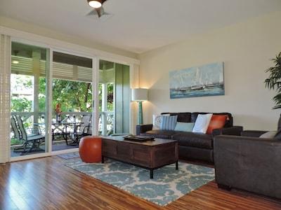 Living room and main floor Lanai.