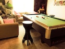 pool table upstairs den