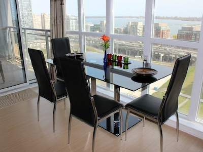 Dining Table with lake/park  view