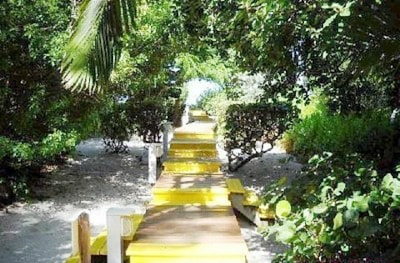 Beginning of our boardwalk to our private beach