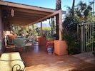 The long porch faces east and has a great view of the Catalina Montains!