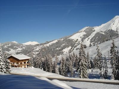 Croix Fry-skilift, Manigod, Haute-Savoie (departement), Frankrijk