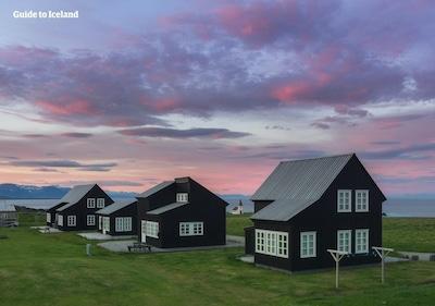"The charming ""Norwegian"" houses in Hellnar (built 2006)"