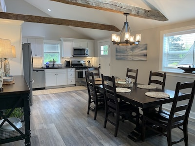 Beautiful and newly renovated in a rustic New England nautical style