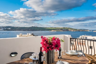 Sunny Terrace With Spectacular Sea Views.