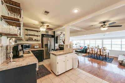 Families and groups of friends will love the open concept layout.
