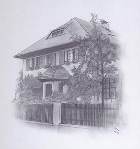 Hausansicht Zeichnung