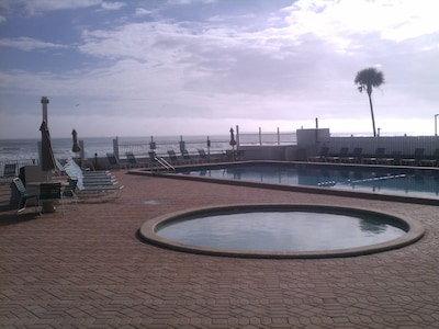 The baby pool and large pool
