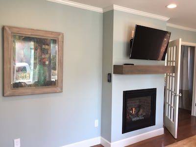 Living room - fireplace, TV