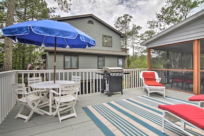 The home features a private, furnished porch - great for afternoon lounging.