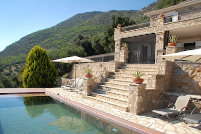 View of main house and pool