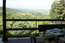 Incredible view to Tuscany from the terrace outside kitchen