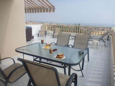 Lovely balcony for alfresco dining