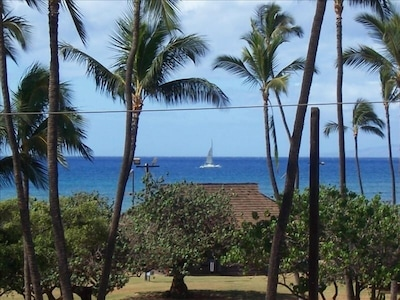 Taken From the Lanai Watching the Boats Returning from Molokini
