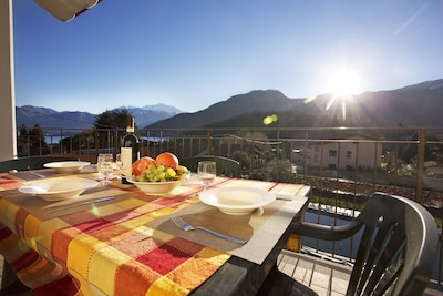 """Dine alfresco from your private balcony here at  """"Lenno Spese"""""""