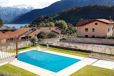 """The pool as viewed from the balcony here at """"Lenno Spese"""""""