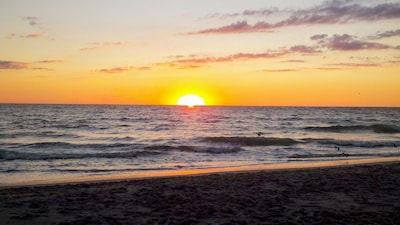 Amazing Sunset from our Private Beach!