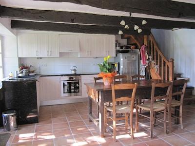 Kitchen & interior dining area