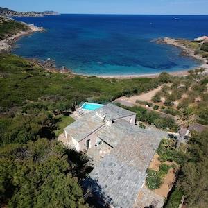 villa vue aérienne
