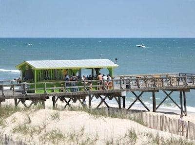 Ocean Grill and Tiki bar just a frisbee's throw down the beach.